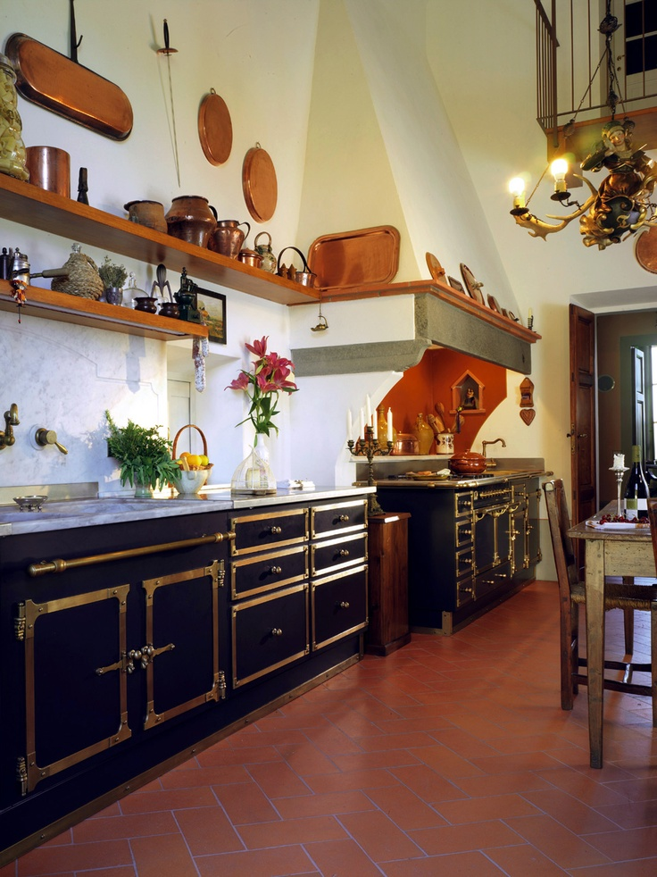 Fabulous French inspired kitchen, a La Cornu lovers dream...this is awesome!