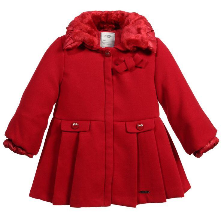 Mayoral Girls Red Classic Coat At Childrensalon Com