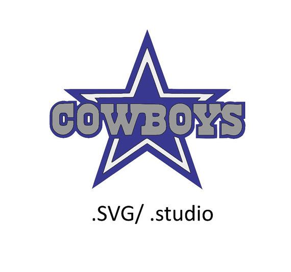 dallas cowboys logo SVG files for Silhouette by OhThisDigitalFun