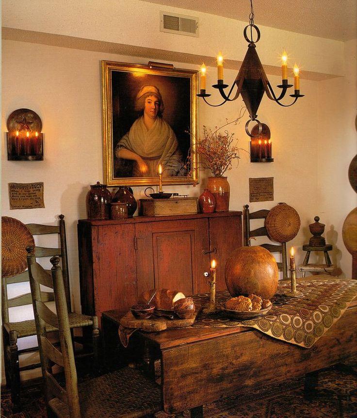 780 best images about primitive decor ideas on pinterest for Primitive dining room ideas