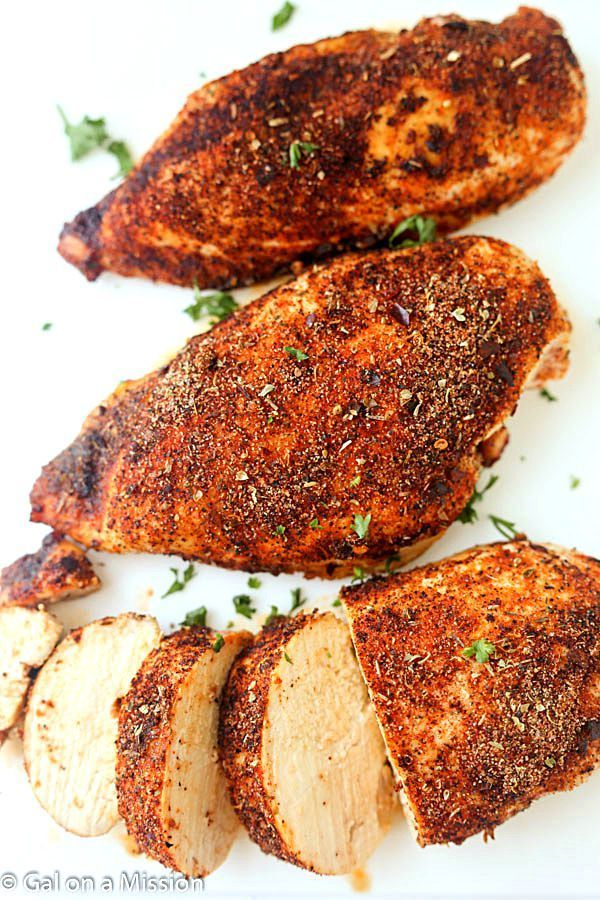 Baked Cajun Chicken Breasts Recipe - The juiciest baked chicken breasts ever! #chicken #breast #recipes