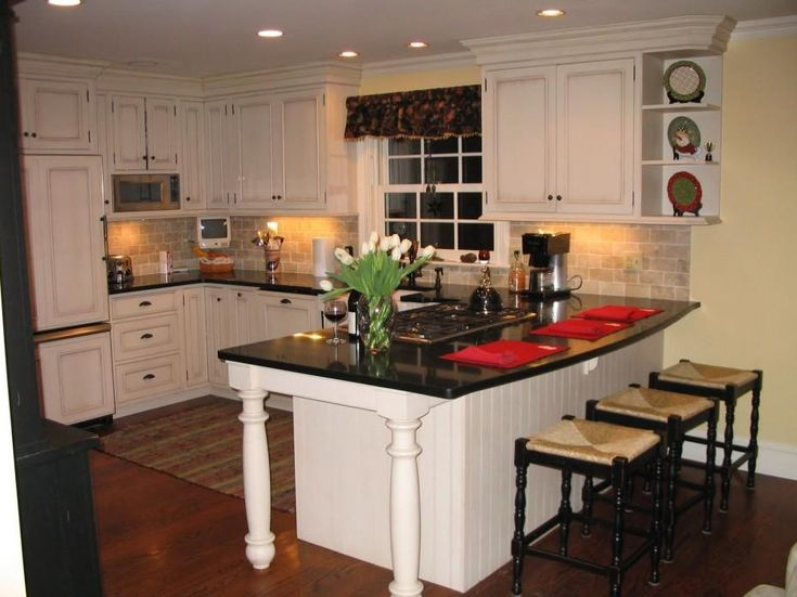 Backsplash Idea For Kitchens With White Cabinets And Black Countertops Part 95