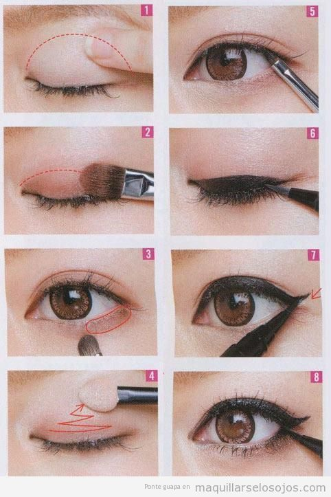 maquillaje de ojos con eyeline negro paso a paso