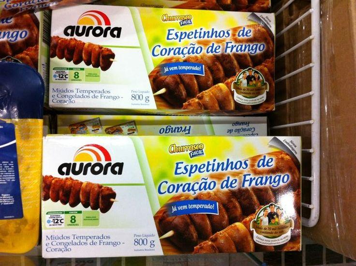 Brasil: anticuchos de corazón. $3.336 los 800 gr.