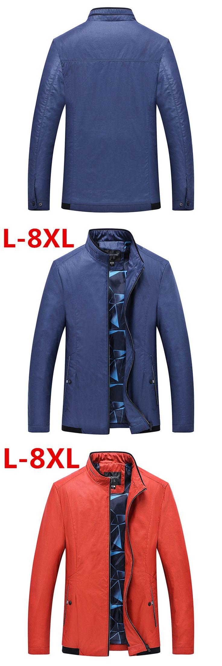 new 8XL 7XL 6XL 5XL Men's Jacket Male Overcoat Casual Slim Fit Mandarin Collar Solid Waterproof Jackets M-XXXL Men Jackets coats