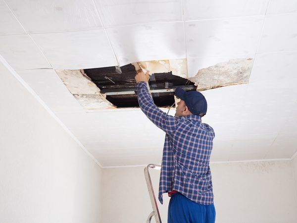How To Patch A Hole In The Ceiling Drywall Repair Ceiling Drywall Repair How To Patch Drywall