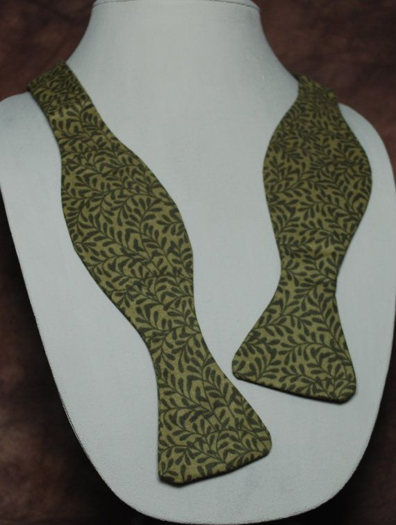 Swamp Vines bow tie by AbandonedWarehouse on Etsy