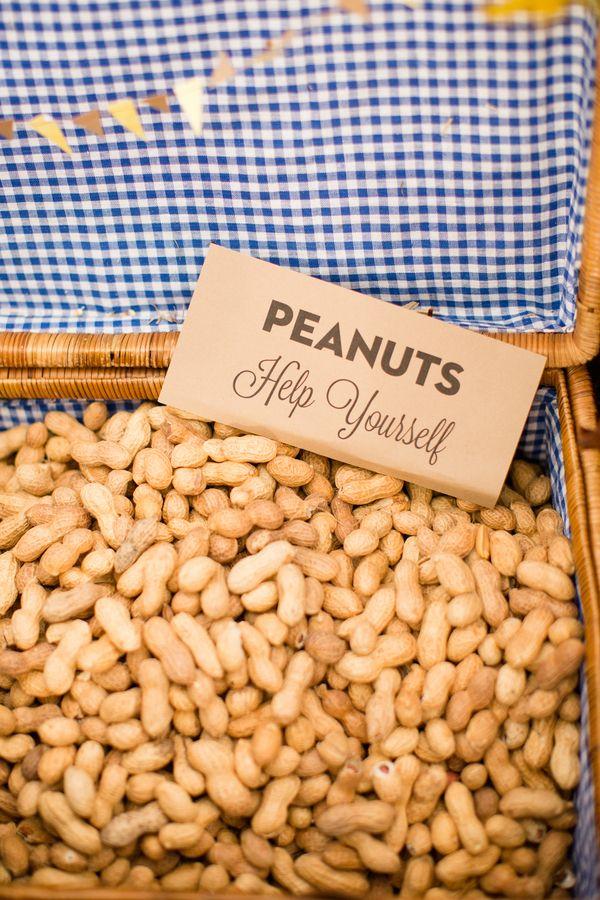 DIY barn wedding.....SERIOUSLY LOVE THIS IDEA...having peanuts on the tables!!   Keywords: #barnweddings #jevelweddingplanning Follow Us: www.jevelweddingplanning.com  www.facebook.com/jevelweddingplanning/