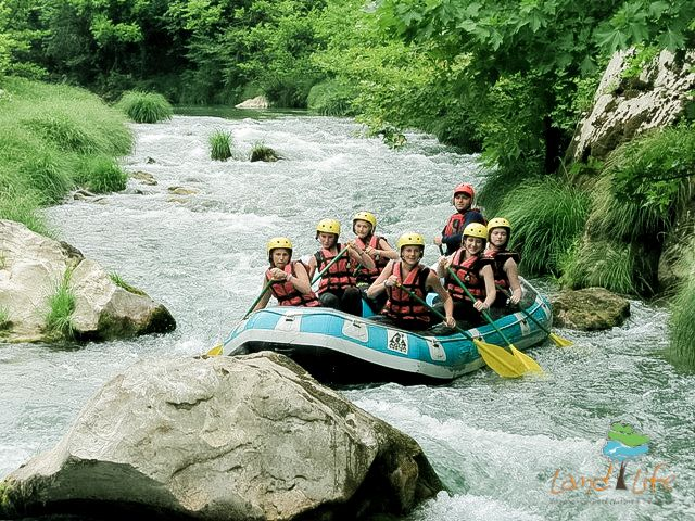Regardles of fitness and age, rafting at Lousios river at Peloponnese is always a unique experience which everyone can live