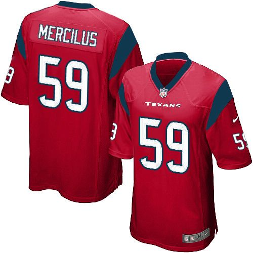 2013 Nike Game Men's Houston Texans #59 Whitney Mercilus Alternate Red NFL Jersey Online free shipping. Shop authentic elite, replica game, or premier limited Houston Texans Whitney Mercilus jersey today to be ready for the 2012-2013 season! Our huge selection coupled with our competitive prices for Nike Game Men's Houston Texans #59 Whitney Mercilus Alternate Red NFL Jersey is why we are the largest fan shop online. $79.99