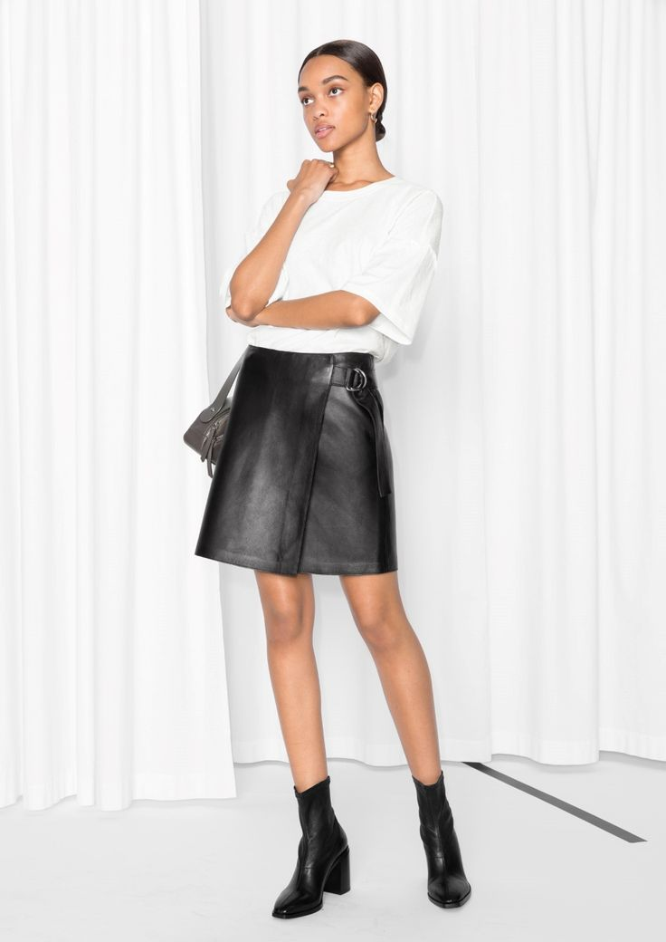 & Other Stories | Wrap Leather Skirt
