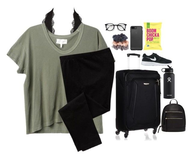 """""""Maui day 1"""" by theperksofbeinghope ❤ liked on Polyvore featuring Charlotte Russe, The Great, Old Navy, Samsonite, Forever 21, Hydro Flask and NIKE"""