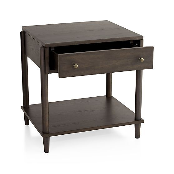 Barnes Nightstand | Crate and Barrel | Brown nightstands ...