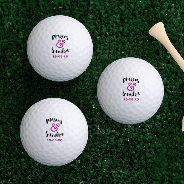 Pelotas de golf personalizadas para bodas