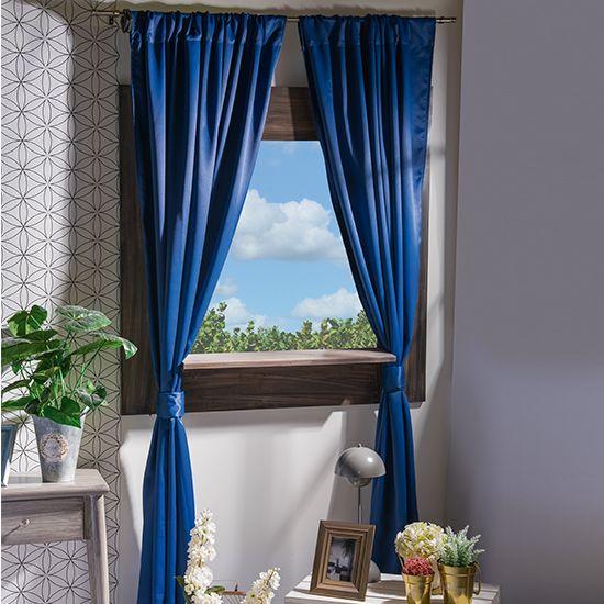Cortina Blakout Azul Marino #Basicos #Cortinas #Hogar #IntimaHogar #Decoracion