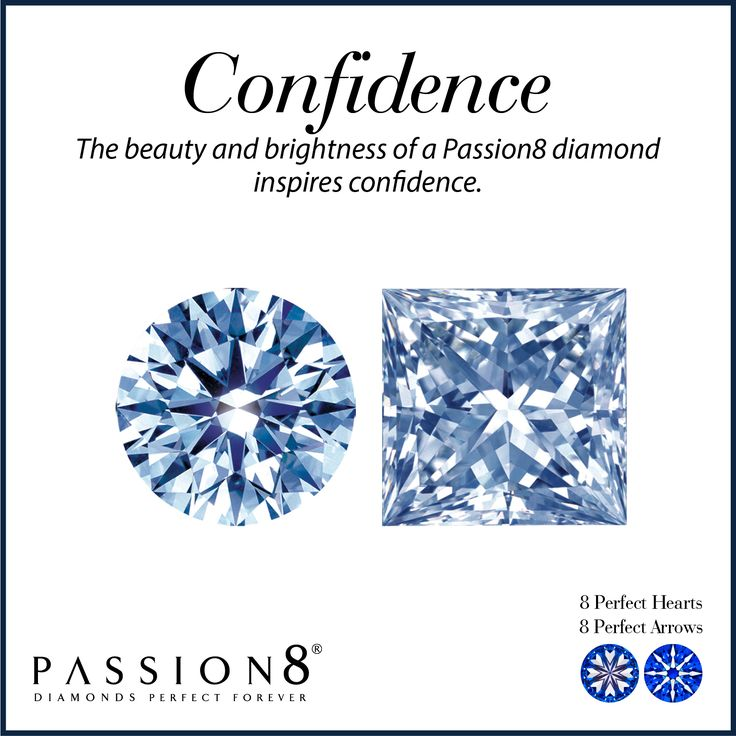 Like the passion of true love, diamonds are everlasting. So it is vital to make sure that when you purchase a diamond you receive the everlasting value that can only come from having the utmost confidence in your selection. Passion8 was created with one underlying principle–confidence based on the quality of a superior product.The beauty and brightness of a Passion8 diamond inspires this confidence.
