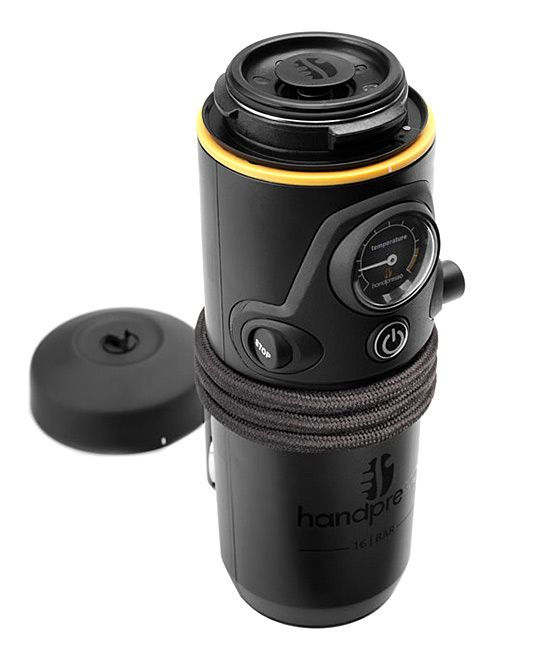 Portable coffeemaker that plugs into your car and brews on the go...freaking cool!