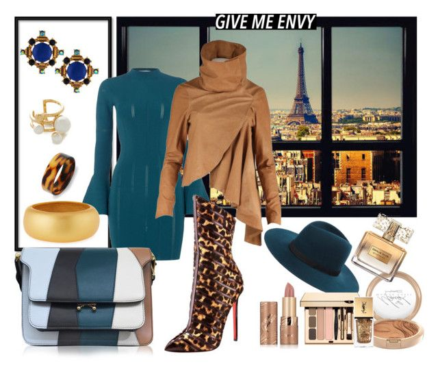 """""""Give me Envy..."""" by bettyboopbbw69 ❤ liked on Polyvore featuring Mariah Carey, Keepsake the Label, Janessa Leone, Nicholas K, Christian Louboutin, Marni, Lydell NYC, Bling Jewelry, Kate Spade and Kenneth Jay Lane"""