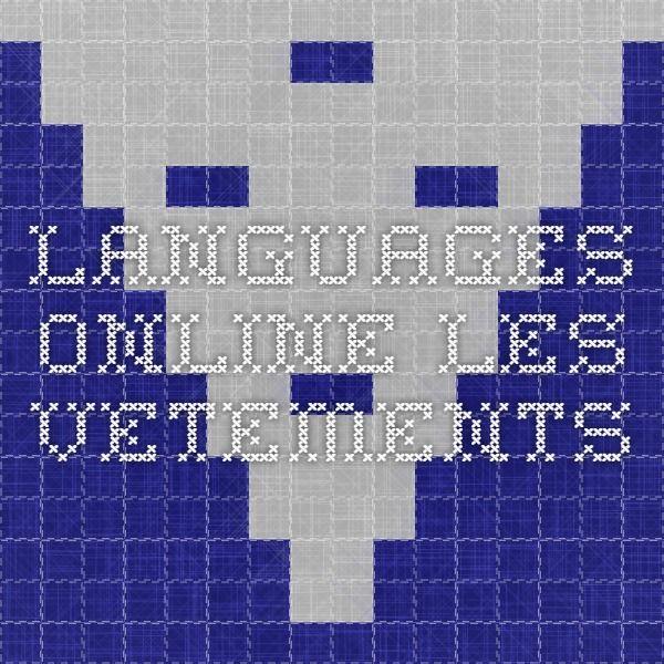 Languages Online - les vetements