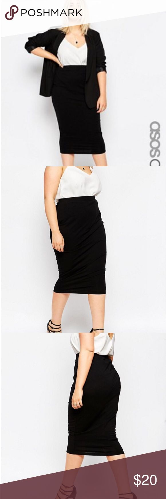 ASOS Black Jersey Pencil Skirt Only worn once EUC! Very soft, moves with your body, goes with everything, can easily be dressed up or down. This is a great staple piece for any wardrobe. ASOS Curve Skirts Pencil