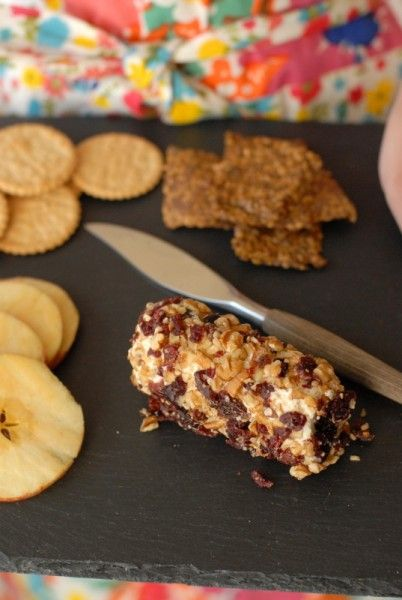 Cranberry Pecan Goat Cheese Roll | Recipe