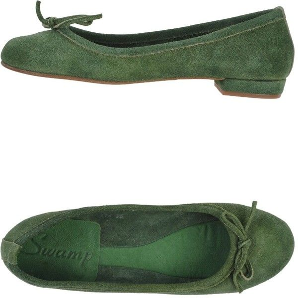 Swamp Ballet Flats ($49) ❤ liked on Polyvore featuring shoes, flats, military green, ballet flats, ballet flat shoes, flat pumps, bow ballet flats and leather ballet shoes