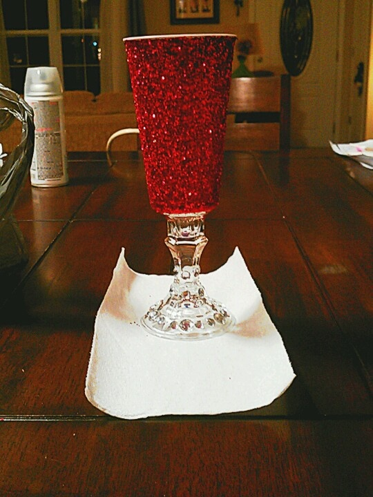 Blinged out red solo cup....lol!