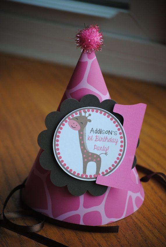NEW  Pink Giraffe Birthday Party Hat by mlf465 on Etsy, $5.50