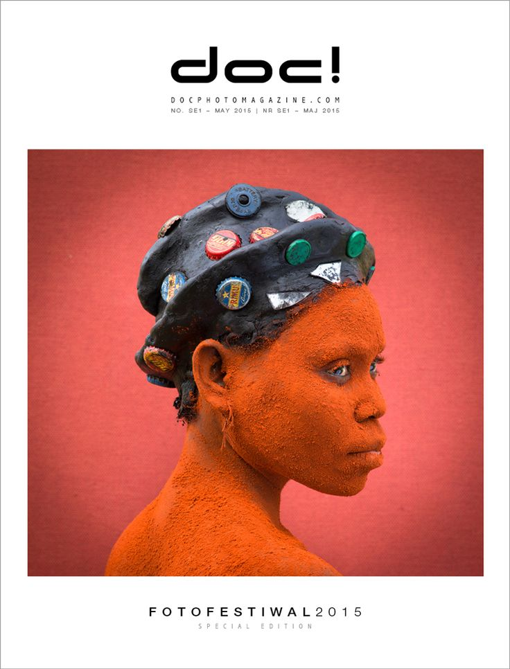 Cover of the doc! photo magazine Fotofestiwal Lodz 2015 edition Cover photo: Patrick Willocq