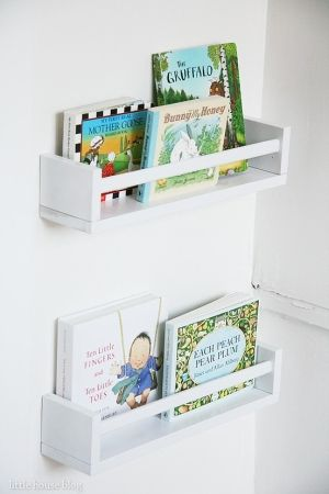 DIY Ikea spice rack bookshelves