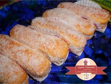 Coconut pastries with vanilla cream / glykesdiadromes