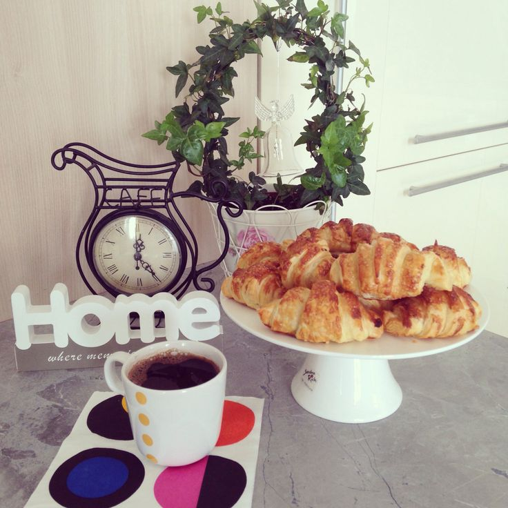 Home made croissants and coffee