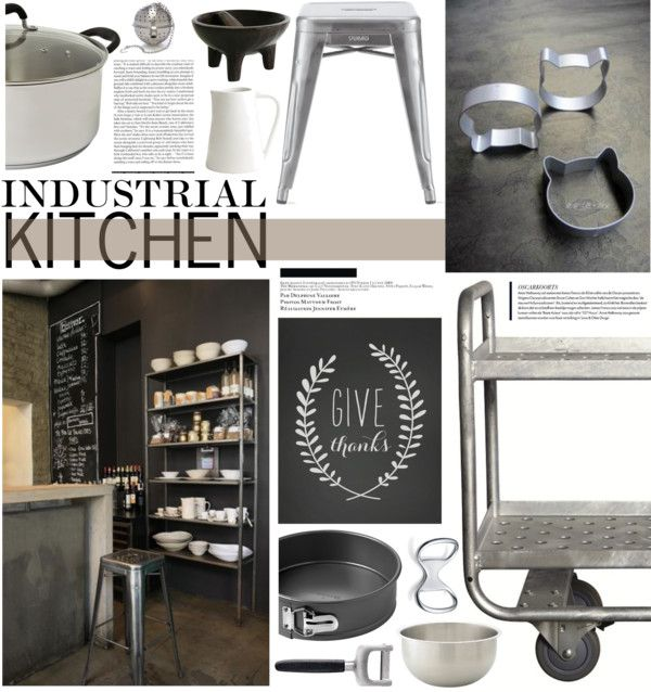 """""""Industrial Kitchen"""" by emmy on Polyvore"""