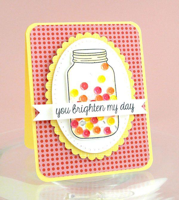 Sequins, such a cute jar filler! Lawn Fawn - Summertime Charm