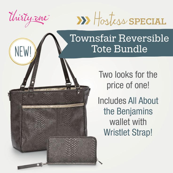 Thirty-One's August Hostess Special - Townsfair Reversible Tote Bundle