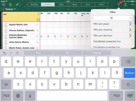 Mandar notas y avances en iDoceo - YouTube