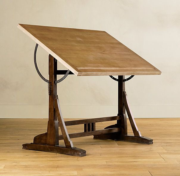 French Drafting Table   Traditional   Desks   By Restoration Hardware