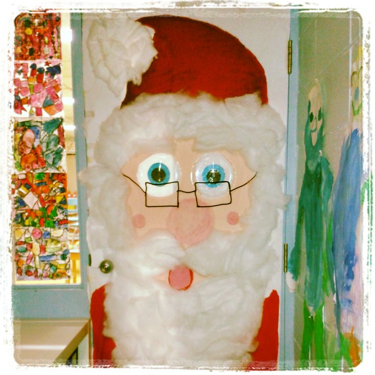 D coration de ma porte de classe id e no l pinterest for Decoration porte noel maternelle