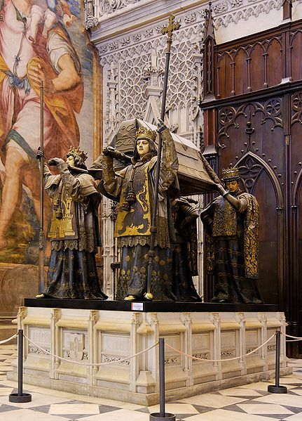 Cathedral of Sevilla - Christopher Columbus' tomb