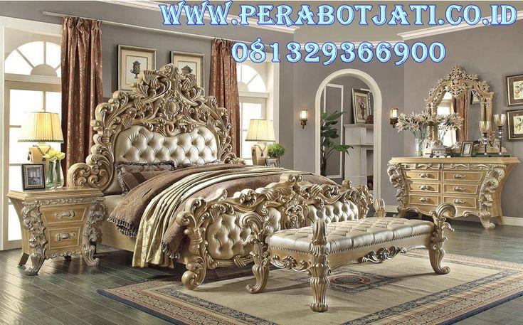 Jual Set Kamar Ukir Rahwana PJ-0136 | Desain Kamar Ukir Klasik