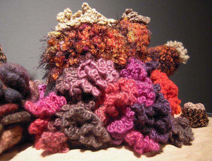 Crochet coral reef 4 Fiber Art Pinterest