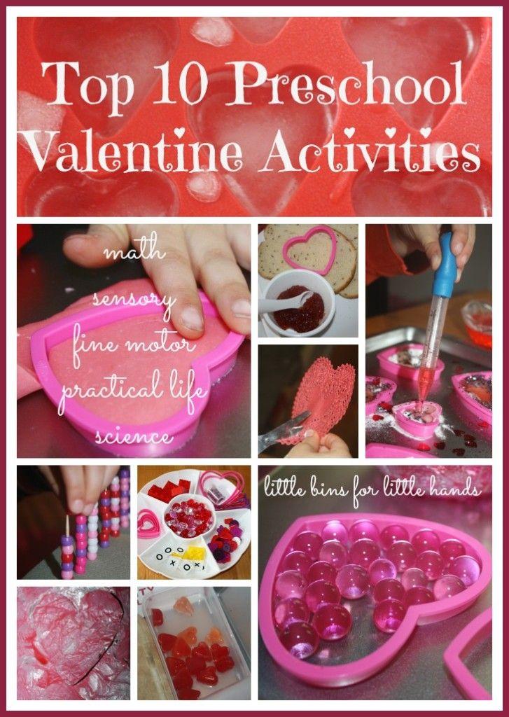 10 Valentines Preschool Activities Sensory, Learning & Play {Top Ten Valentines Lists}