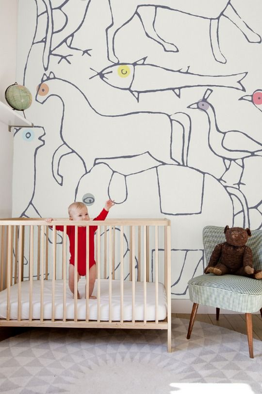 "Minikani ""Animals"" wallpaperWall Art, Nurseries Wall, Wall Murals, Kids Room, Kidsroom, Wall Painting, Animal Wallpapers, Baby Room"