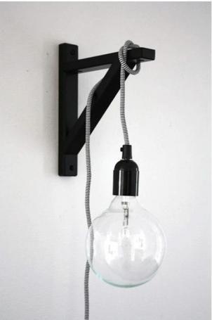 NUD Classic Pendant: Remodelista IKEA bracket $3 pendant light $50 #masterbedroom