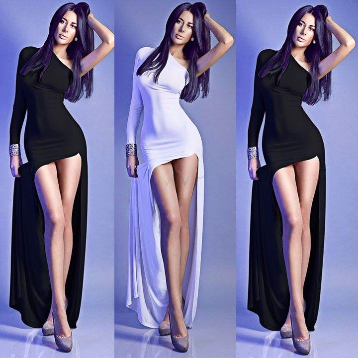 Платье, подробная информация о женщины сексуальный приталенный разрез неправильная Клубная одежда асимметричный подол макси длинная вечернее вечернее платья 10