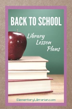 Free Back to School Library Lesson Plans!!