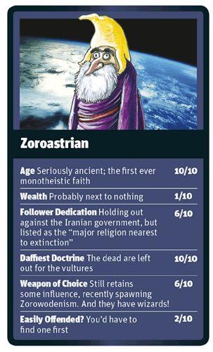 God Trumps Zoroastrian card