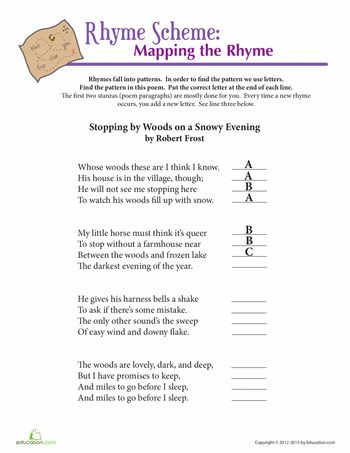 1000 images about rhyme scheme on pinterest worksheets rhyme definition and poetry. Black Bedroom Furniture Sets. Home Design Ideas