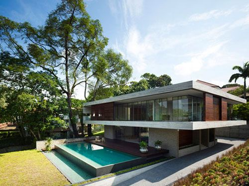 JKC1 - a spacious feng shui inspired house in Bukit Timah, Singapore designed by ONG&ONG