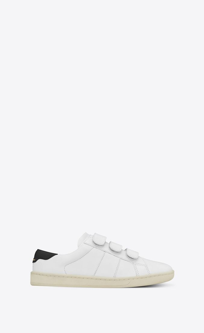4f7675883bb Court Classic SL/01 sneaker in leather and velcro, Front view ...